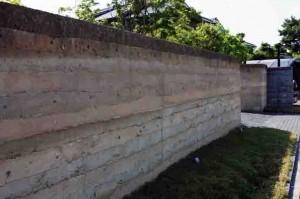 版築 版築土塀