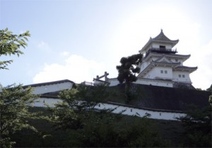 掛川城 漆喰 1