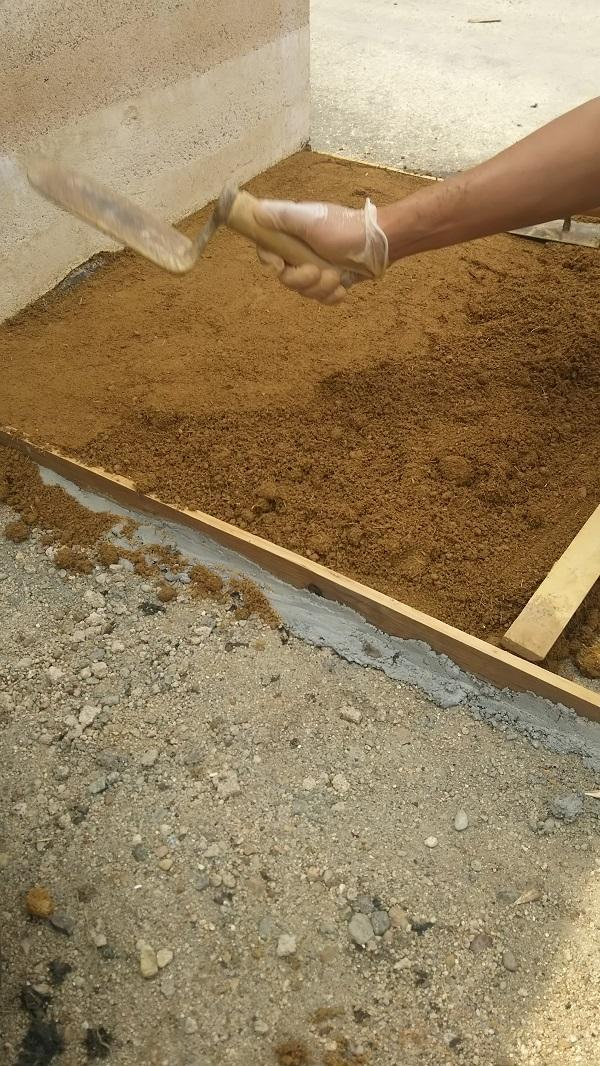 重吉たたき 1㎡セット 土間たたき材料